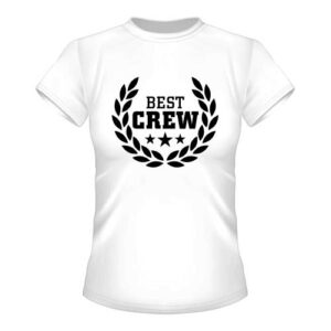 Best Crew Damen T-Shirt - Weiß
