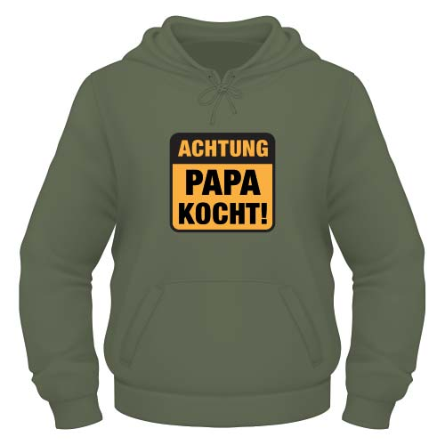 Achtung Papa kocht Hoodie - Olive