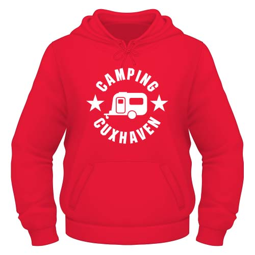 Camping Cuxhaven Hoodie - Rot