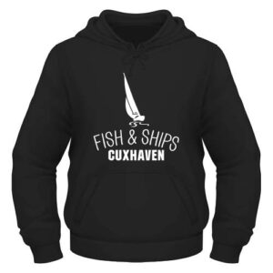 Fish and Ships Cuxhaven Hoodie - Schwarz