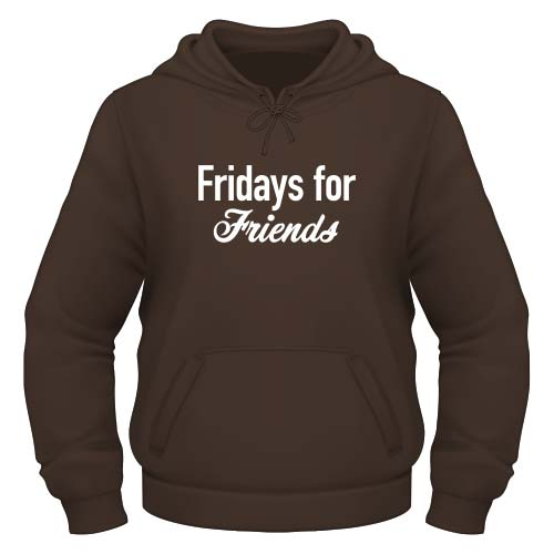 Fridays for Friends Hoodie - Chocolate