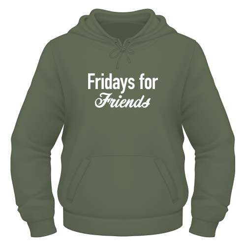 Fridays for Friends Hoodie - Olive