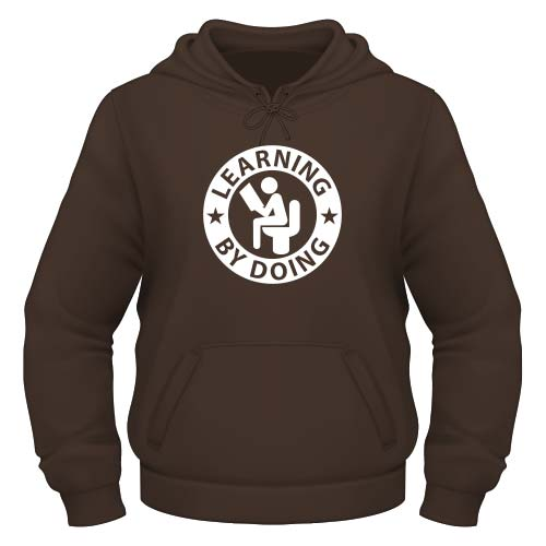 Learning by doing Hoodie - Chocolate
