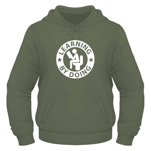 Learning by doing Hoodie - Olive