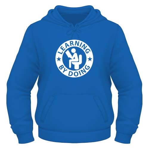 Learning by doing Hoodie - Royal