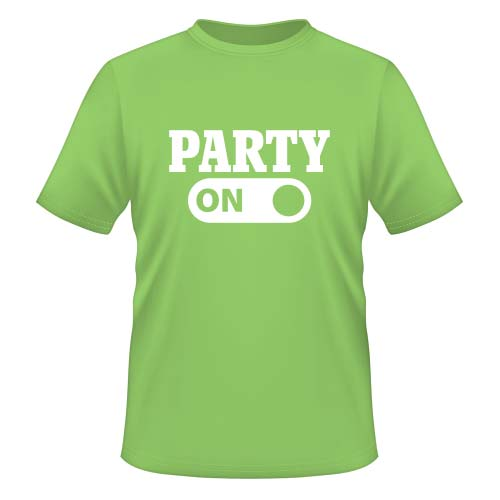 Party on - Herren T-Shirt - Lime