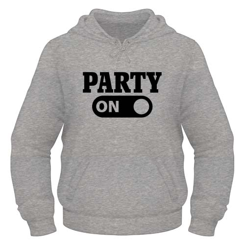 Party on Hoodie - Graumeliert