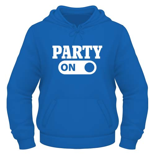Party on Hoodie - Royal