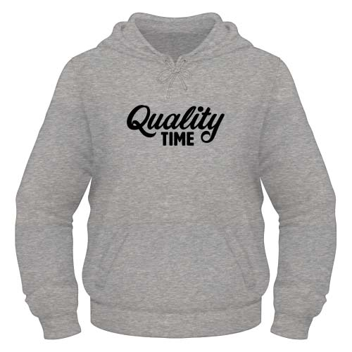 Quality Time Hoodie - Graumeliert