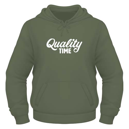 Quality Time Hoodie - Olive