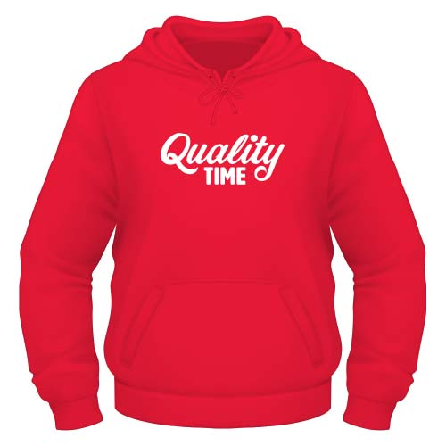 Quality Time Hoodie - Rot