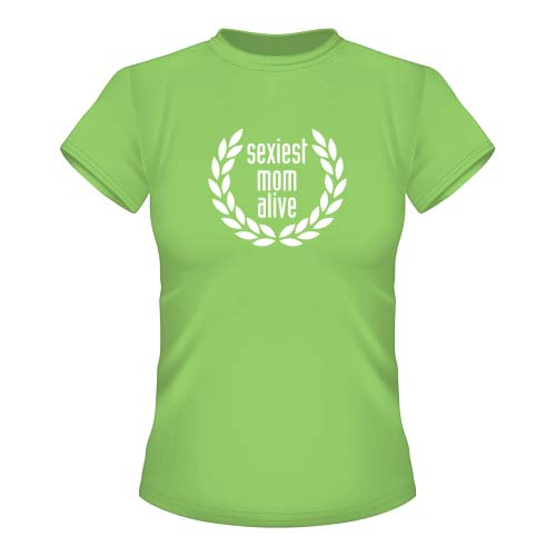Sexiest Mom alive Damen T-Shirt - Lime