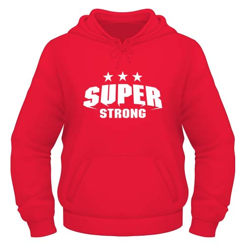 Super Strong Hoodie - Rot