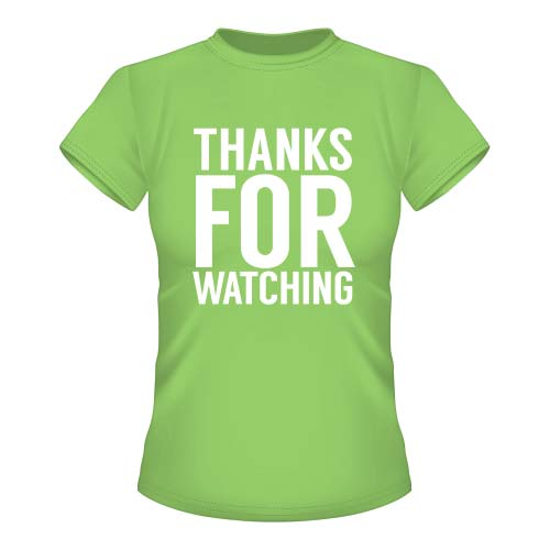 Thanks for watching - Damen T-Shirt - Lime