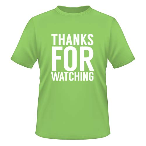Thanks for watching - Herren T-Shirt - Lime