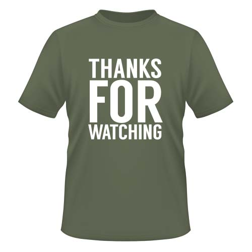 Thanks for watching - Herren T-Shirt - Olive