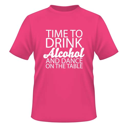 Time to drink Alcohol and dance on the Table - Herren T-Shirt - Fuchsia