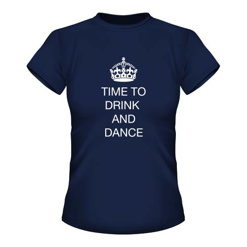 Time to drink and dance - Damen T-Shirt - Navy