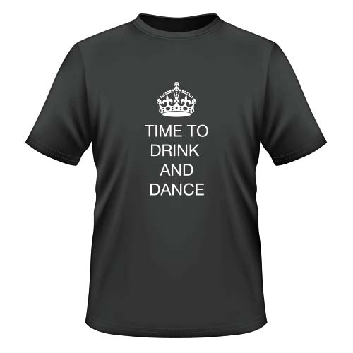 Time to drink and dance - Herren T-Shirt - Graphit