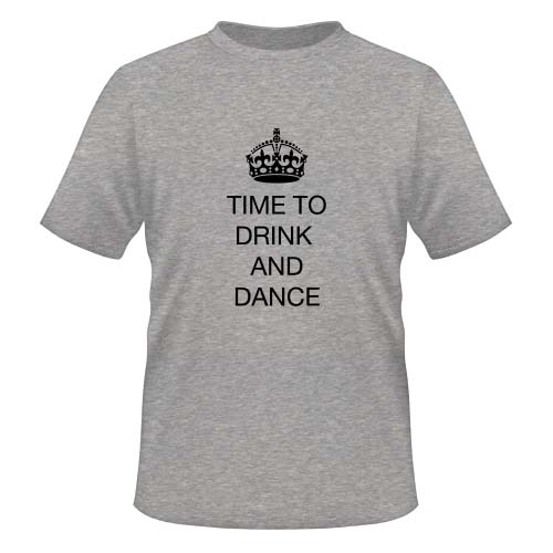 Time to drink and dance - Herren T-Shirt - Graumeliert