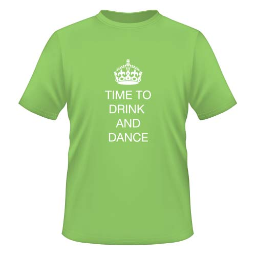 Time to drink and dance - Herren T-Shirt - Lime