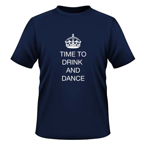 Time to drink and dance - Herren T-Shirt - Navy