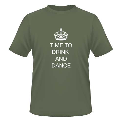 Time to drink and dance - Herren T-Shirt - Olive