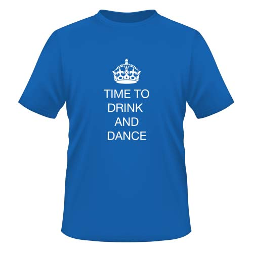 Time to drink and dance - Herren T-Shirt - Royal