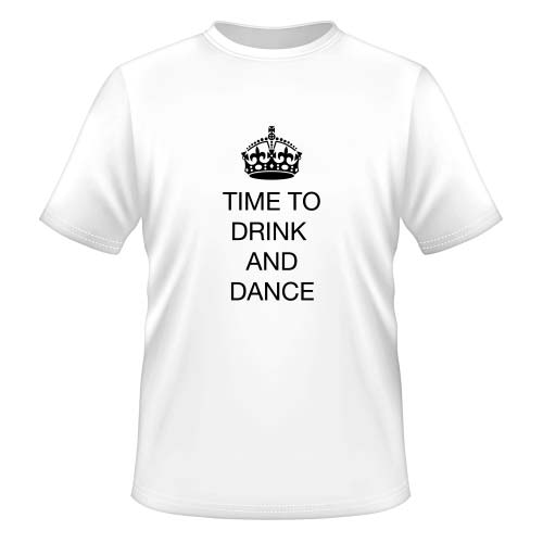 Time to drink and dance - Herren T-Shirt - Weiß